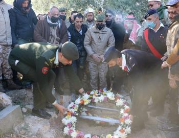 الجيش يشيع جثمان الشهيد الزغول