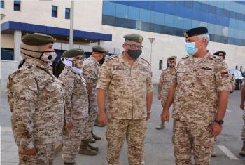 الحنيطي يفتتح المستشفى الميداني العسكري المخصص لمرضى كورونا