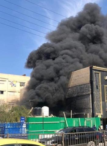 حريق بمبنى قيد الانشاء في الزرقاء
