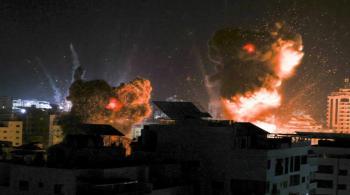 سلسلة غارات عنيفة على قطاع غزة