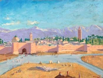 تملكها أنجلينا جولي ..  بيع لوحة مراكش لتشرشل بثمانية ملايين يورو