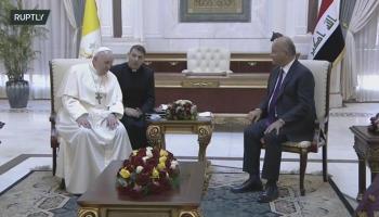 الرئيس العراقي لبابا الفاتيكان: دوركم كبير في إرساء السلام