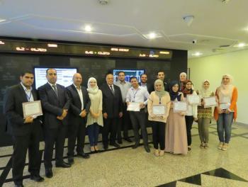 تخريج موظفين في بورصة عمان