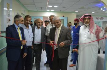 افتتاح قسم جراحة وباطني وتوسعة العناية الحثيثة بالمقاصد (صور)