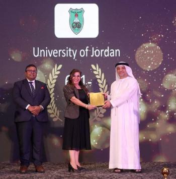 الجمعاني تتسلم شهادة تصنيف الأردنية في QS 2022