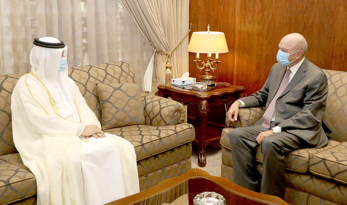 الفايز يلتقي السفير الإماراتي لدّى الأردن