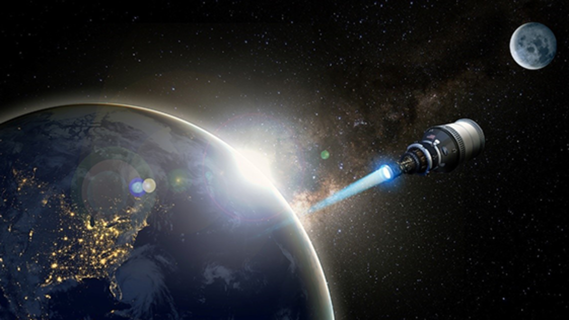 مركبة فضائية للنقل السريع بين الأرض والقمر .. وما بعده ...