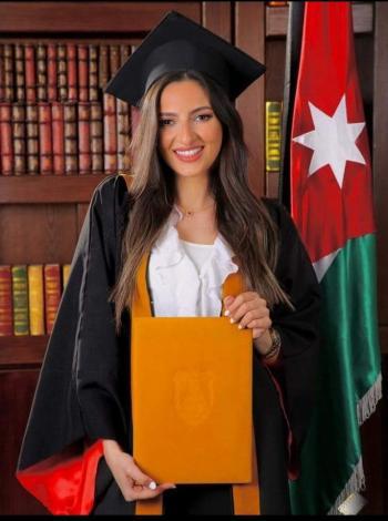 الدكتورة لجين الرحاحلة  .. مبارك التخرج