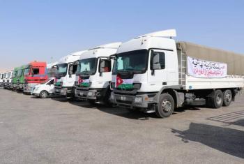 وصول قافلة امدادات طبية أردنية إلى غزة