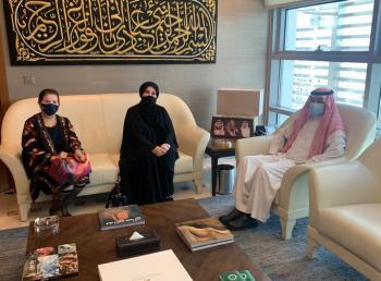 السفير السعودي يلتقي رئيسة الاتحاد النسائي الأردني