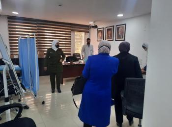حملة طبية للمتقاعدات العسكريات في المركز الوطني للعناية بصحة المرأة
