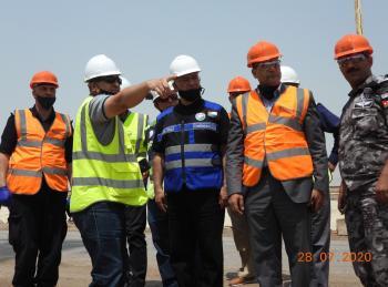 محافظ الكرك ومجلسها الأمني يزورون شركة البوتاس