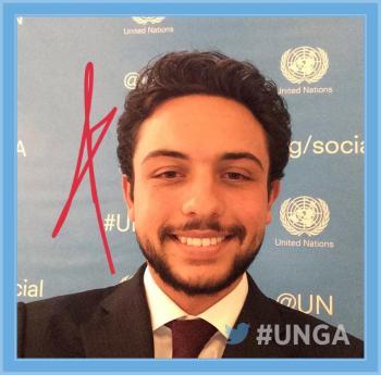 صورة ولي العهد تزين غلاف الامم المتحدة