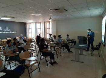 جامعة الشرق الأوسط ترحب بطلبة برنامج الصيدلة البريطاني المشترك (Mpharm) الجدد
