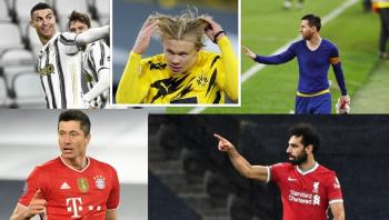 ترتيب هدافي دوري أبطال أوروبا بعد نهاية جولة الذهاب