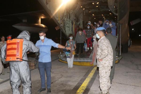 وصول أردنيين من بيروت على متن طائرة سلاح الجو
