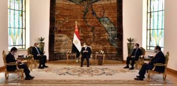 الخصاونة ينقل رسالة شفوية من الملك للرئيس المصري