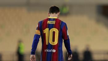 رد فعل برشلونة على عقوبة ميسي