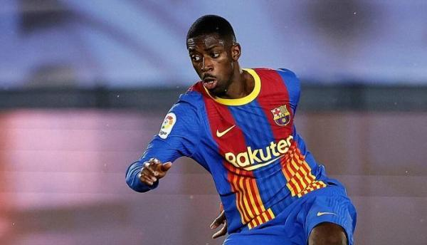 عثمان ديمبلي مهاجم برشلونة