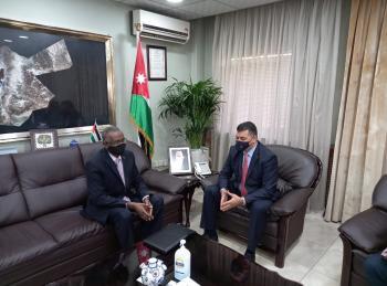 وزير الزراعة يستقبل القائم بأعمال السفارة السودانية