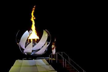 أوساكا توقد الشعلة الأولمبية طوكيو 2020 (صور)