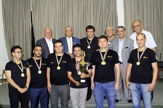 نادي الارينا الرياضي يتوج بلقب دوري اندية الدرجة الاولى للشطرنج