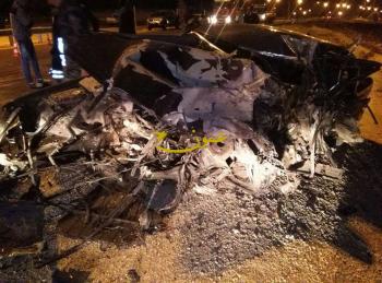 بالصور ..  (3) وفيات بحادث تصادم قرب جسر المطار