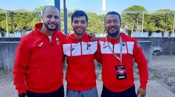 لاعب منتخب الكاراتيه مصاطفة يتأهل إلى نهائي الدوري العالمي