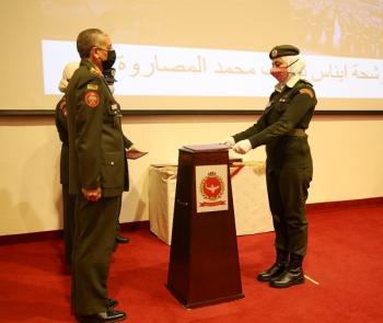تخريج دورة الضباط الجامعيين المهنيين إناث رقم 21