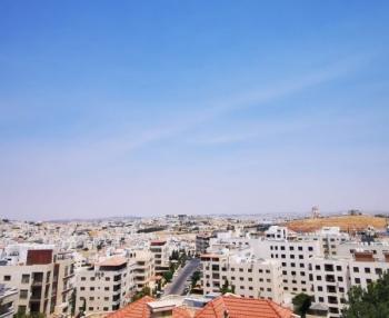 كتل دخانية في سماء الأردن