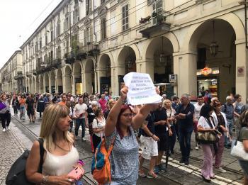 مظاهرات في إيطاليا ضد الـGREEN PASS (صور)