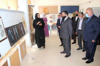 افتتاح معرض تشكيلي في جامعة آل البيت