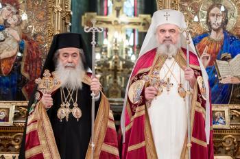البطريرك ثيوفيلوس الثالث يدين اعتداء متطرف على الكنيسة الأرثوذكسية في القدس