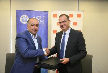 اورانج توقع اتفاقية مع جامعة العلوم التطبيقية
