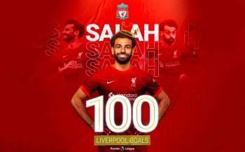 ليفربول يحتفي بدخول محمد صلاح نادي الـ 100 بهذه الطريقة