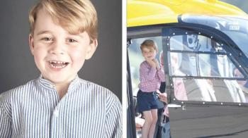 ركوب الـهليكوبتر أول هدية للأمير جورج في عيد ميلاده