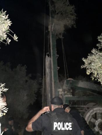 وزارة المياه تضبط حفر بئر مخالف في المفرق