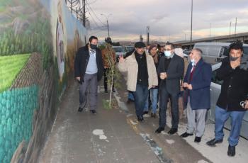 جدارية فنية بمناسبة مئوية الدولة الأردنية في الزرقاء