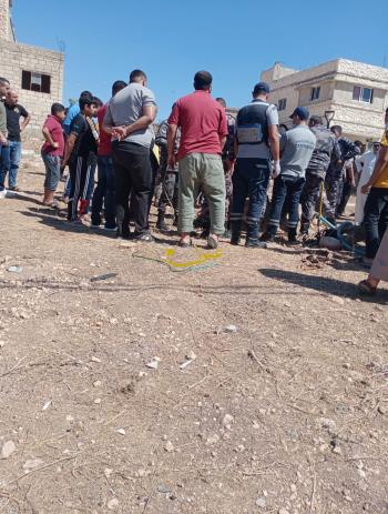 انقاذ 5 أشخاص علقوا داخل بئر في إربد