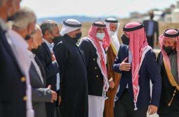 ولي العهد بمنزل الشيخ عطاالله السعيدات في البترا (فيديو)
