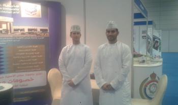 عمان الاهلية تشارك في معرض مؤسسات التعليم في مسقط