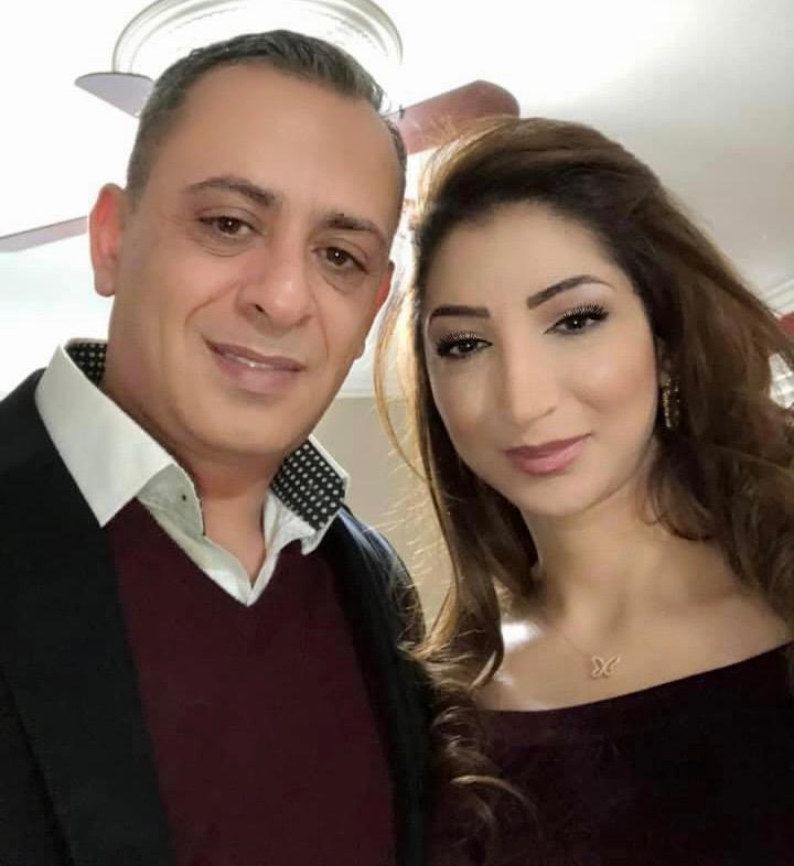 رانيا حدادين وعائلتها تهنئ بسام حدادين وزوجته رشا زيادين بالتوأم