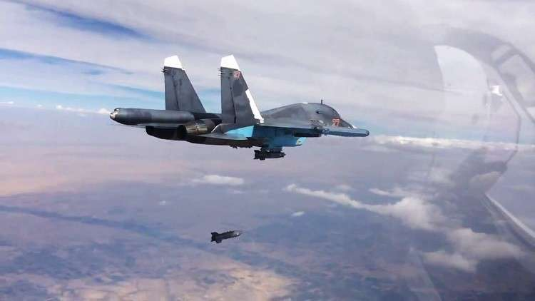 تصفية 4 قياديين في داعش بقصف روسي على دير الزور