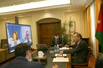 وزير الخارجية يبحث مع ليند ولازاريني حشد الدعم الدولي للاونروا