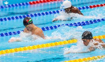 السباح الور يكسر الرقم الأردني في سباق الـ100م بالأولمبياد