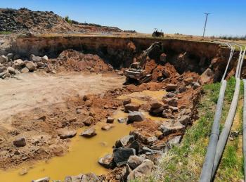 المياه تدق ناقوس الخطر جراء استخراج البازلت المخالف