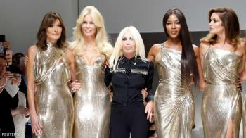 زوجة ساركوزي وجميلات الزمن الجميل في عرض أزياء خاص