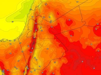 انخفاض على الحرارة الإثنين وأمطار رعدية في مناطق عشوائية