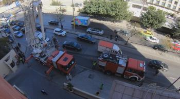 حريق داخل مول في إربد