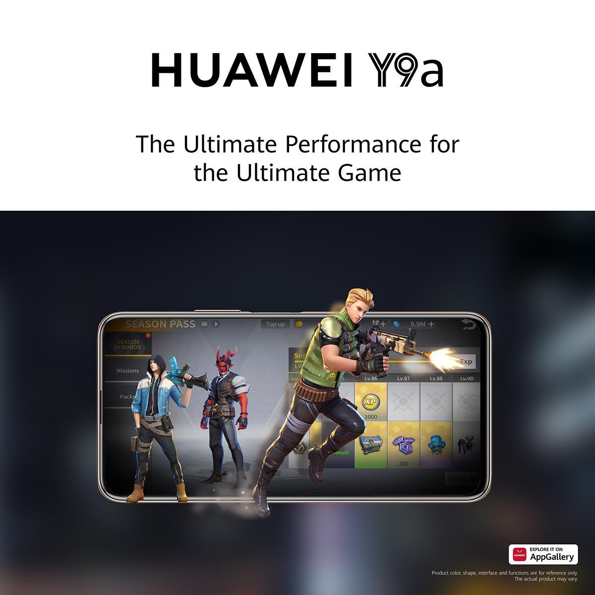 استمتع بتجربة لعب فريدة من نوعها مع هاتف Huawei Y9a